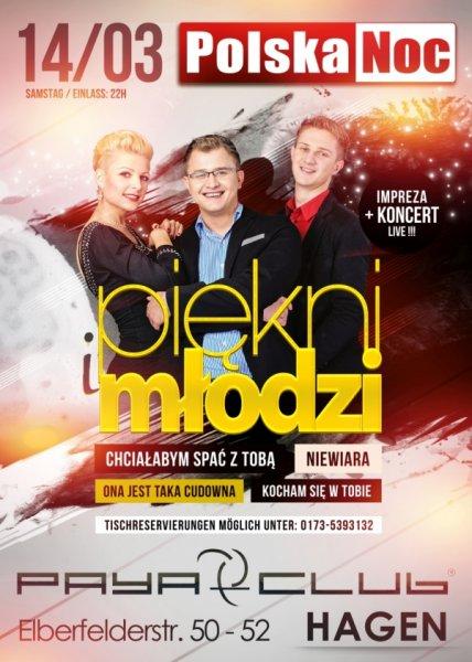 Piekni i Mlodzi vs. Polska Noc Hagen - Wydarzenia